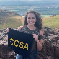 1 student from Arthurs Seat with CCSA tower.jpg