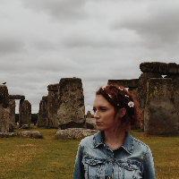 Kaley at Stonehenge.png