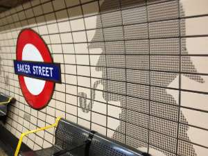 Sherlock Holmes in the Tube at Baker Street